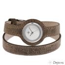 Deja vu watch, watch straps, wrap straps, Uds 172-1, antique brown