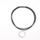 Deja vu watch, accessories, steel necklace, Uk 3, black, silver