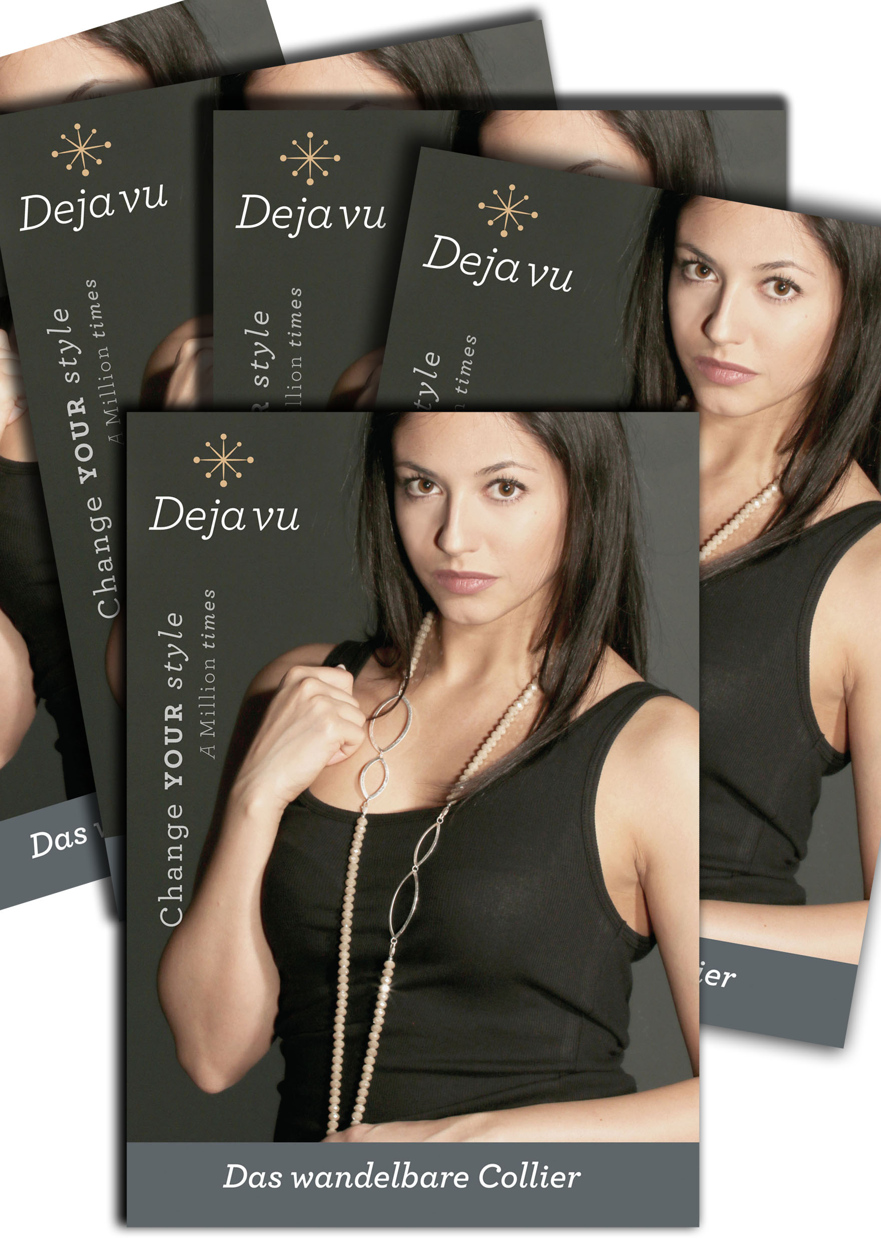 Deja vu Necklace, Catalogs, storage, ect., Flyer  Collier